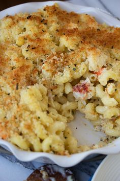 Lobster and Shrimp Mac n Cheese | www.tablefortwoblog.com