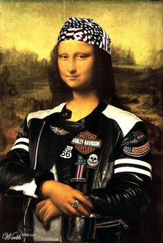 HAHAHA! Even the Monalisa wants in on the action once she heard about these great Harley motorcycle exhausts!!
