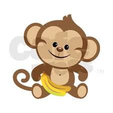 Resultado de imagen para baby shower monkey cartoon