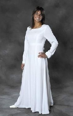 Temple dress on pinterest lds temples latter day bride for Mormon temple wedding dresses