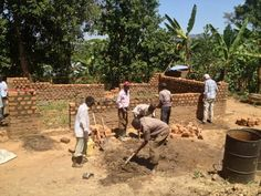 Brothers and sisters building a new Kingdom Hall in Buwalasi, Uganda. Just outside Mbale! They started now in January 2013 and will soon be ready, with Jehovah´s help <3 (My kids are there now as need greaters and are giving a helping hand with the new hall <3 )