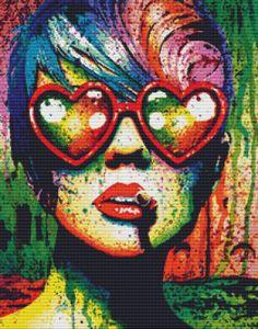 Modern Cross Stitch Kit By Carissa Rose 'Electric Wasteland'