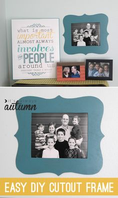 make your own pretty #shaped photo #frame with this simple tutorial. #easy