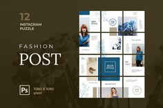 Instagram Puzzle – Fashion Post, is a professional, modern and elegant template for your Instagram posts and Gallery. Inspirational Posts, model photography, product Gallery, introduce your brand and more. With this Instagram post template, you can easily improve the quality of your Instagram with a more attractive and professional one.This template is fully editable and can be customized in Adobe Photoshop. It's very simple to use these template in Photoshop. Just edit texts and put your… Instagram Creator, Instagram Plan, Instagram Banner, Free Instagram, Instagram Posts, Creative Photoshop, Ads Creative, Adobe Photoshop, Insta Layout