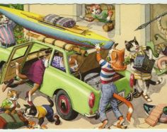 Alfred Mainzer Anthropomorphic Dressed Cats by HilltopPostcardShop