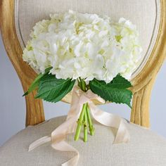 Wedding Bouquets White Hydrangea Bridesmaid Bouquet - 3 Stems of White Hydrangea Wedding Flower Guide, Wedding Flower Packages, Beach Wedding Flowers, Wedding Flower Arrangements, Flower Bouquet Wedding, Wedding Ideas, Flower Bouquets, Table Arrangements, Bridal Bouquets