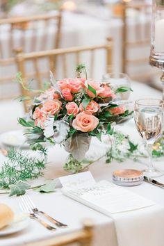 Wedding reception centerpiece idea; photo: Koman Photography