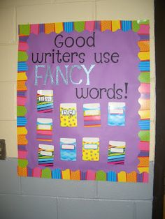 Fancy word activities on pinterest fancy nancy writing for Bulletin board template word