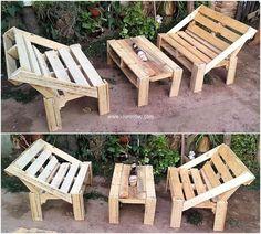 pallets made garden furniture