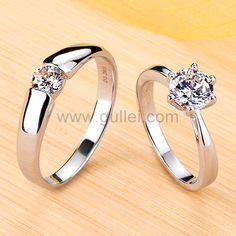 Engagement Rings Couple, Princess Cut Engagement Rings, Engagement Ring Settings, Couple Rings Gold, Princess Wedding, Couple Ring Design, Couple Bands, Wedding Band Engraving, Wedding Band Sets