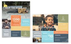 Homeless Shelter Poster Template Design by StockLayouts
