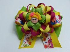 Como Hacer moños Elegantes redondos con cinta para el cabello.hair bows - YouTube