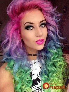 71 most popular ideas for blonde ombre hair color - Hairstyles Trends Rainbow Dyed Hair, Pelo Multicolor, Coloured Hair, Dye My Hair, Pastel Hair, Lilac Hair, Blue Hair, Cool Hair Color, Amazing Hair Color