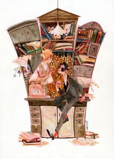 bookshop by s-u-w-i.deviantart.com on @DeviantArt