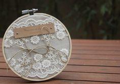 Porte-alliance gamme mariage champêtre chic par lamarieeinspiree