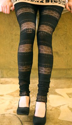 Black lace leggings... I need these before fall starts ASAP!
