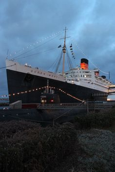 The queen mary, Long Beach CA. Cool to tour considering my dad sailed to Europe on it.