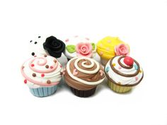polymer clay cupcakes | Flickr - Photo Sharing!