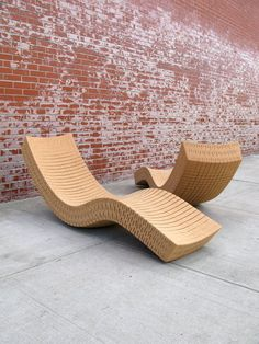 Cortiça chaise longue by Daniel Michalik H x W x L. Recycled Cork Handmade to order, this full size chaise longue allows for gentle rocking both side to side and front to back, providing a sense of effortless floating. Suitable for indoor/outdoor use. Eco Furniture, Recycled Furniture, Pallet Furniture, Furniture Making, Furniture Design, Outdoor Furniture, Furniture Online, Creation Deco, Canvas Designs