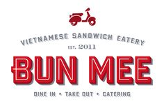 Bun Mee identity. Outstanding design across the board.