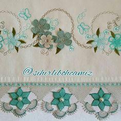 İğne oyası el havlusu örneği #crochet #örgü #havlu #lifmodelleri #needle #iğneoyası #iğneoyaları #havlukenarları