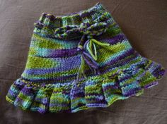 Small Purple Green and Blue Wool Skirtie by superfoxrocks on Etsy, $22.00