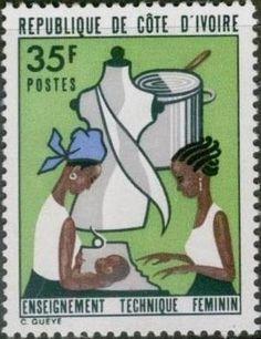 1973 Timbre: Technical instruction for women (Côte d'Ivoire) (Technical instruction for women) Mi:CI 429,Sn:CI 357