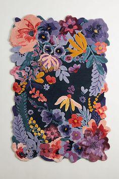 Feb 2020 - Tufted Jardin Rug by Anthropologie in Blue, Rugs Hanging Furniture, Furniture Decor, Furniture Arrangement, Plywood Furniture, Furniture Stores, Modern Furniture, Furniture Design, Soft Flooring, Flooring Ideas