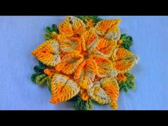 VEJA COMO FAZER FLOR DE CROCHÊ PASSO A PASSO EM VIDEO AULA COM CRISTINA COELHO ALVES - YouTube Crochet Diagram, Freeform Crochet, Tapestry Crochet, Thread Crochet, Crochet Stitches, Crochet Flower Patterns, Crochet Designs, Crochet Flowers, Fabric Flowers