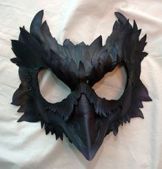 Mormont's Raven Leather Mask, Game of Thrones Inspired