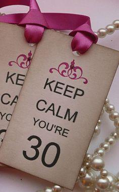Keep Calm eres 30 Set de 4 Vintage estilo etiquetas por amaretto