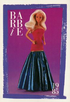 "Barbie Collectible Fashion Card "" Spectacular Fashions "" 1985 