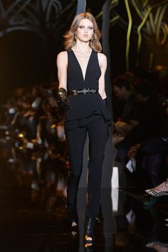 Lindsey Wixson walks the runway during the Elie Saab show as part of the Paris Fashion Week Womenswear Fall/Winter 2015/2016 on March 7, 2015 in Paris, France.