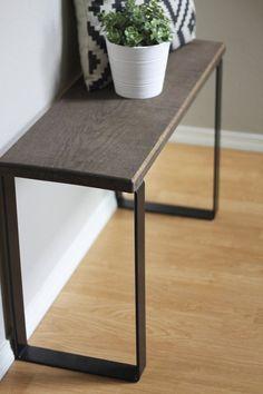 Metal Bench Legs DIY Furniture Steel Black Brass Finish | Etsy Porch Furniture, Building Furniture, Furniture Legs, Furniture Projects, Furniture Making, Wood Projects, Bedroom Furniture, Industrial Furniture, Modern Furniture