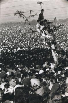 Henri Cartier-Bresson - Cremation of Ghandi, India, 1947 From Henri Cartier-Bresson Photographer