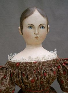 Portrait-style painting on hand crafted cloth dolls created by artist Susan Fosnot. Each is one-of-a-kind, dressed in antique fabrics, and a unique personality. Old Dolls, Antique Dolls, Vintage Dolls, Fabric Dolls, Paper Dolls, Homemade Dolls, Doll Painting, Doll Quilt, Doll Shop