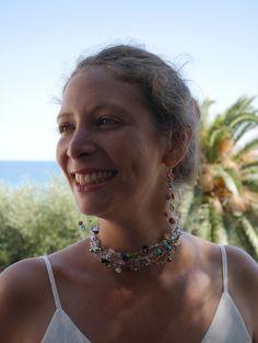 Necklace / bracelet / hair jewelry / belt. Wire crochet jewelry made in France from Dekalyna by DaWanda.com