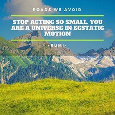 #roadsweavoid #rovoid #rovoidquotes #rovoidwisdom #quotes #motivationalquotes #inspirationalquotes #quoteoftheday #qotd #lifequote #instaquote #universe #rumi #rumiquotes