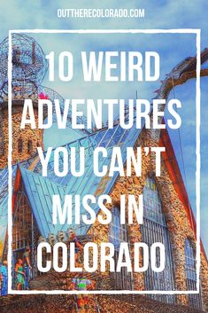 Looking for fun, exciting, and out-of-the-ordinary things to do in Colorado? If you enjoy strange and unusual attractions, then you'll love exploring these non-touristy things to do around the Centenn Road Trip To Colorado, Visit Colorado, Colorado Hiking, Colorado Mountains, Denver Colorado Vacation, Colorado Springs Things To Do, Visit Denver, Estes Park Colorado, Durango Colorado