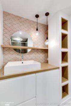 Appartement de 31 m2, Paris Qui : Une jeune fille Architectes : Margaux Meza et Carla Lopez Emplacement : Paris Superficie : 31 m2 Photos : Transition Interior Design Entreprise : Batifléche