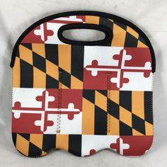 Maryland Flag 6-Pack Bottle Cooler Travel Washable Reusable Insulated Neoprene  | eBay