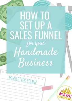 If your handmade business doesn't have a sales funnel, you're missing out on a lot of sales. On average of shoppers will not buy, so you must give options aside from buy or don't buy if you want to boost sales. Business Sales, Etsy Business, Craft Business, Business Advice, Business Planning, Business Marketing, Creative Business, Online Business, Marketing Ideas