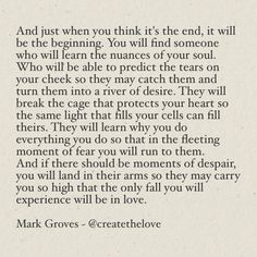 Find more on my website www.MarkGroves.tv and follow me on IG: createthelove #love #poem #poetry #quote #quotes #relationship #dating #single #lonely #valentinesday #valentines #hope
