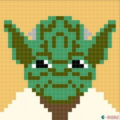 pixel crochet blanket patterns yoda - Google zoeken