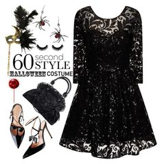 """""""60 Second Style:Last Minute Halloween Costume"""" by grozdana-v ❤ liked on Polyvore featuring Chi Chi, Masquerade and 60secondstyle"""