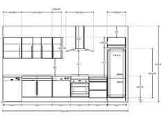 Kitchen Design Gallery, Galley Kitchen Design, Kitchen Room Design, Kitchen Cabinet Design, Kitchen Interior, Interior Sketch, Interior Design Tips, Kitchen Elevation, Kitchen Layout Plans