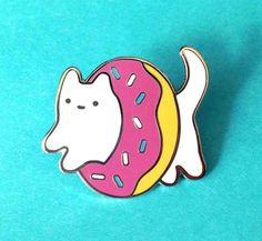This pin, that combines your love of doughnuts and kitties.