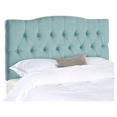 Dress up your master suite or guest bedroom in plush style with this button-tufted headboard, featuring a subtly arched silhouette. Produ...