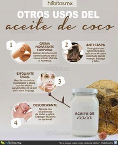 Otros usos del aceite de coco Beauty Care, Diy Beauty, Beauty Hacks, Beauty Spa, Homemade Beauty, Coconut Oil Uses, Body Hacks, Hygiene, Natural Cosmetics