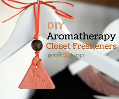 Banish musty closets and repel moths with these handy clay closet fresheners. They can be made from air dry clay at home and then hung in your closet to diffuse essential oils such as lavender, rosemary,...